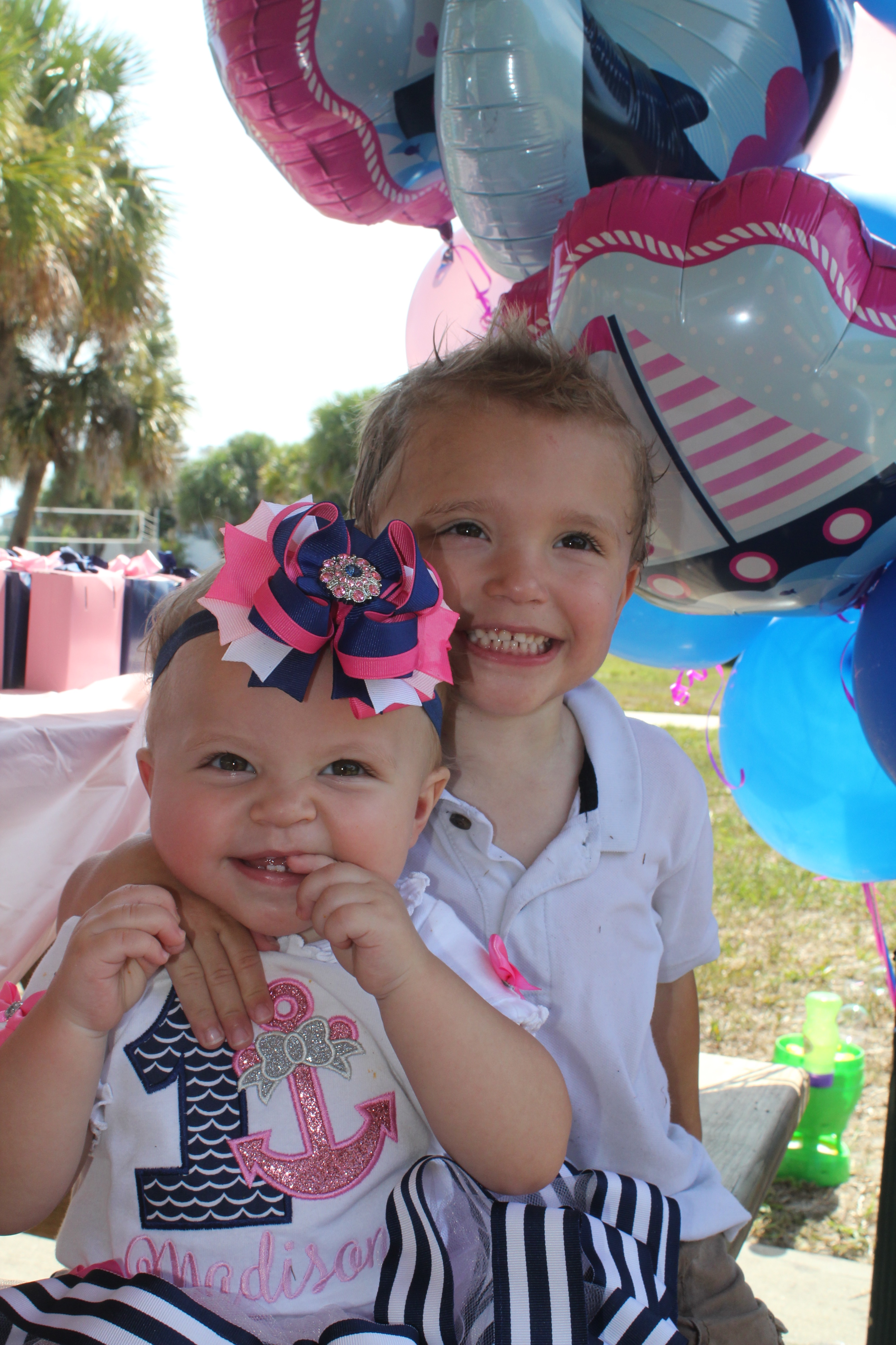 MADISON'S FIRST BIRTHDAY – NAVY BLUE & PINK NAUTICAL THEME