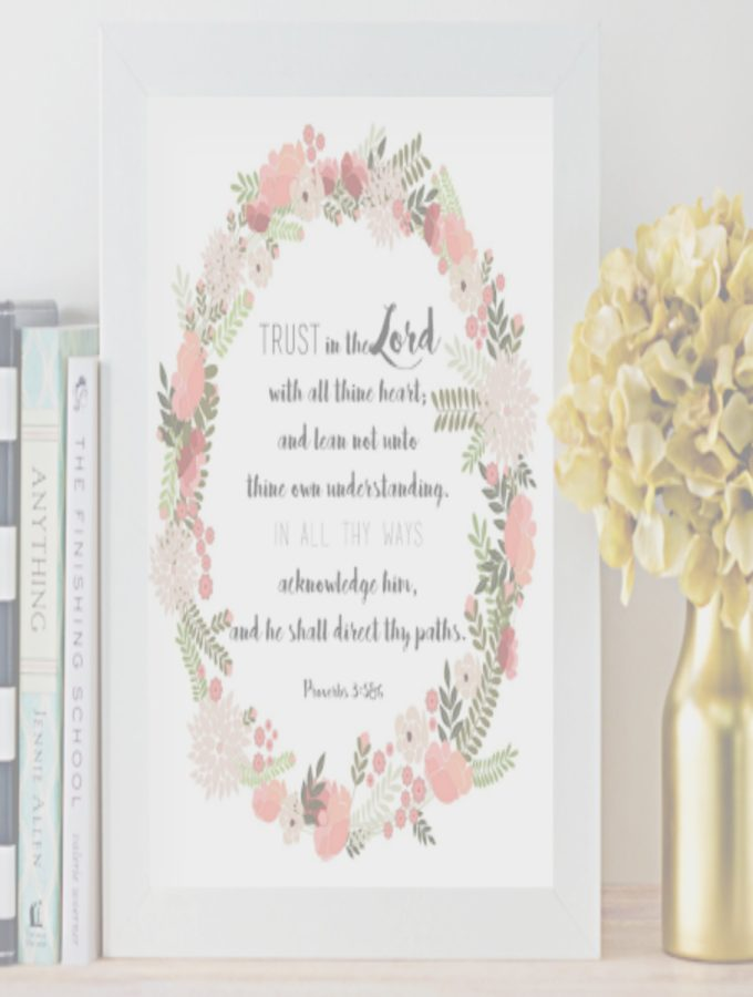 FREE PRINTABLE MEMORY VERSE CARDS WITH MATCHING WALL ART