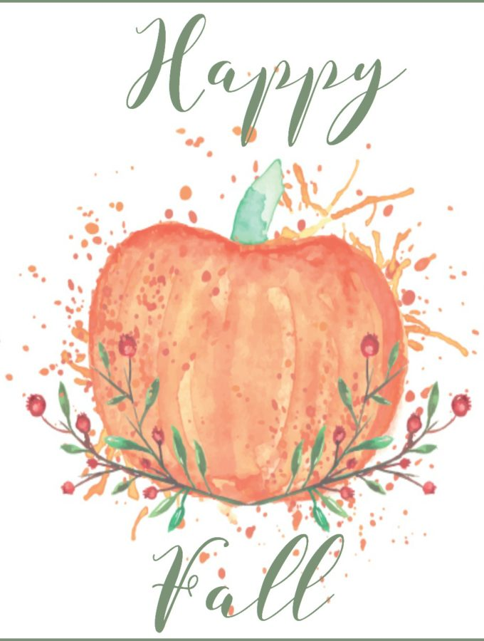 Free Fall Printable {Happy Fall}
