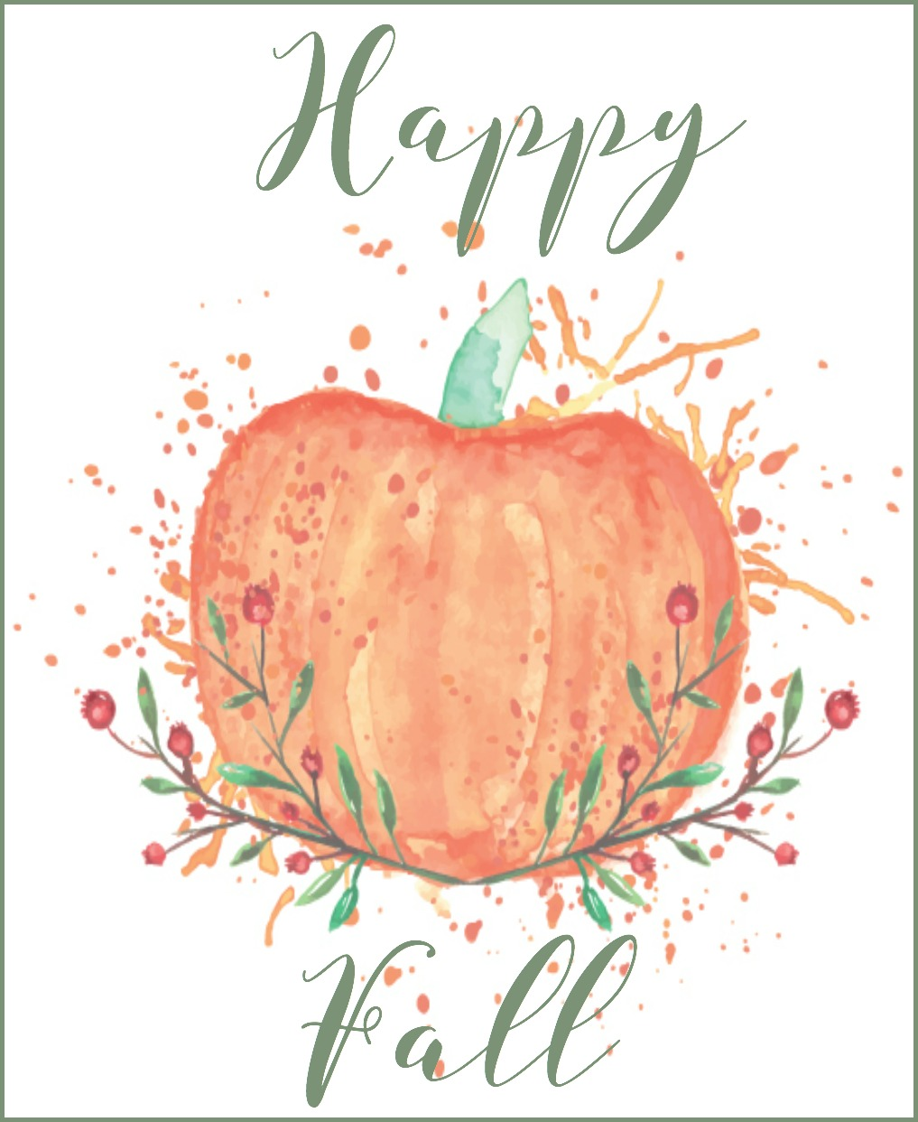Free Fall Printable {Happy Fall}