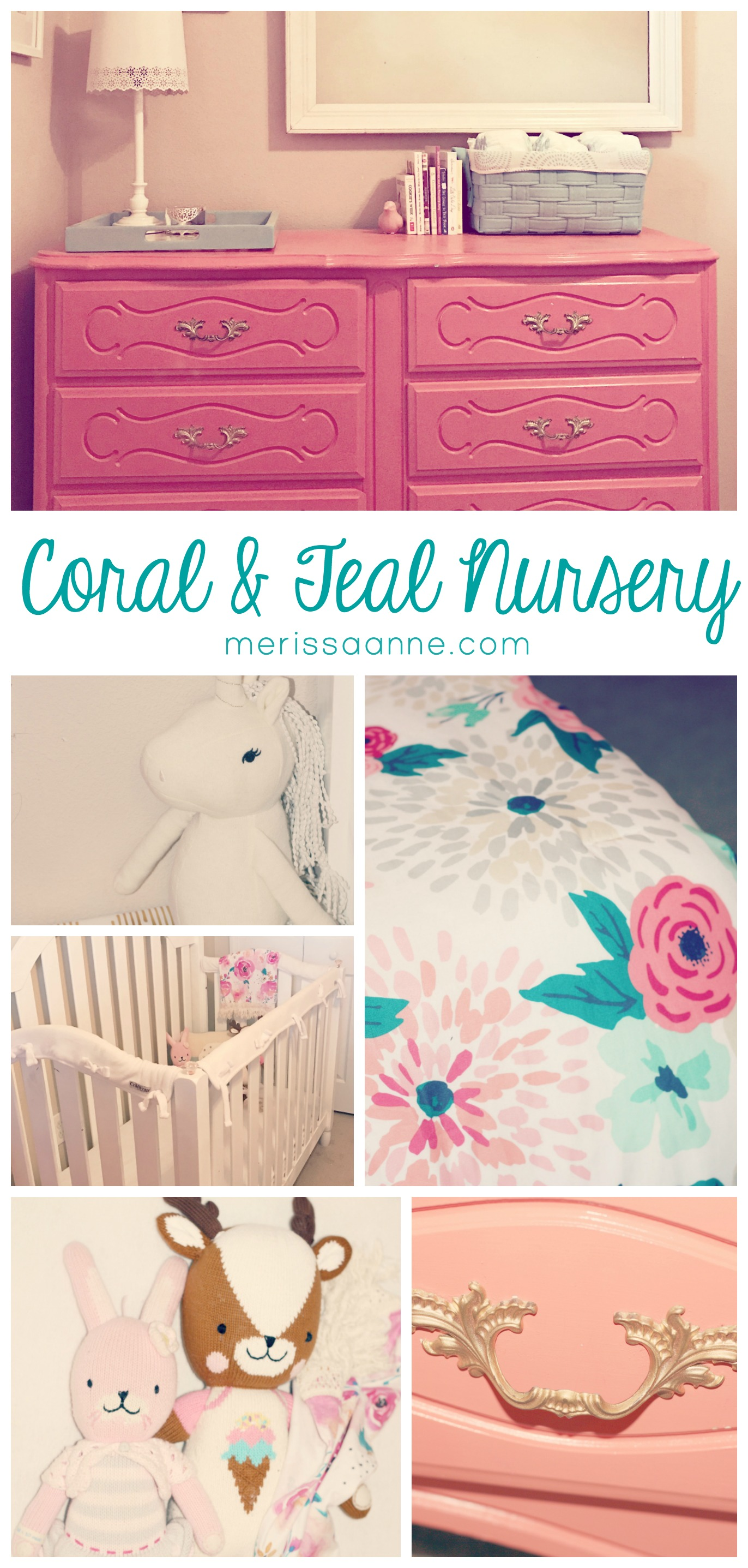 Madison's Coral and Teal Nursery