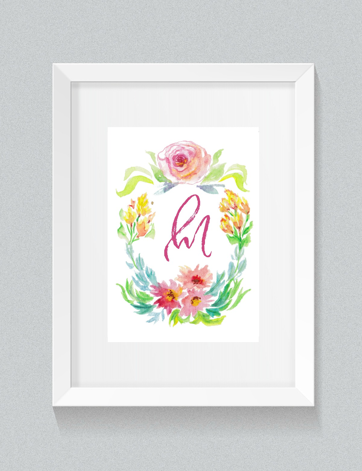 Free Printable Initial Wall Art