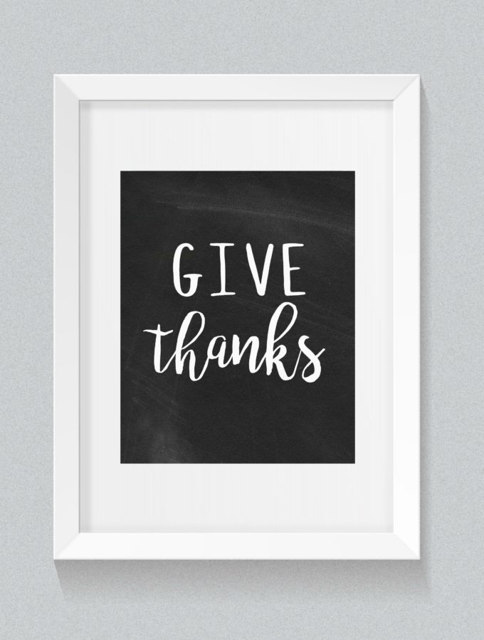 Free Printable {GIVE THANKS}