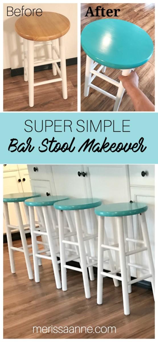 Super Simple Bar Stool Makeover