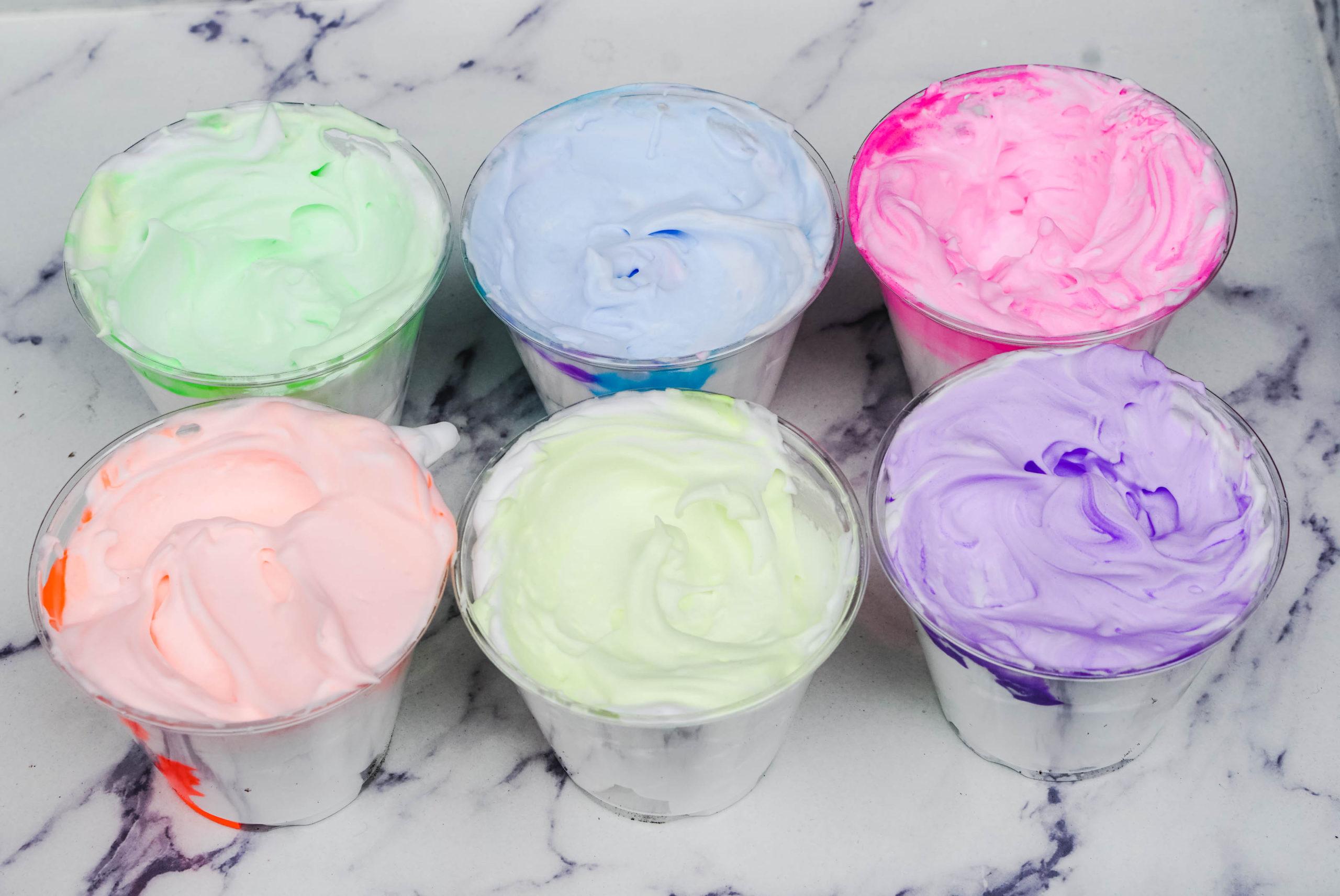 Puffy paint sensory craft