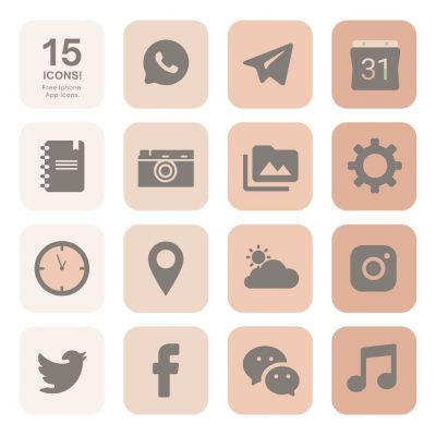 Free app icons for iPhone