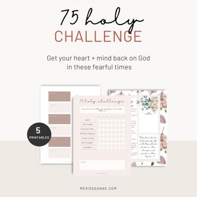 75 holy challenge free printable kit